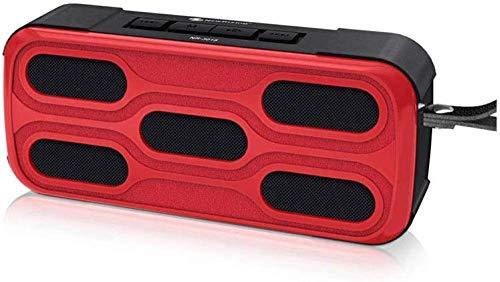 Altavoz Bluetooth portátil Mini Bluetooth Altavoces 360° HD inalámbrico dual emparejamiento sonido envolvente para al aire libre Fiesta en casa IPX4 impermeable-rojo