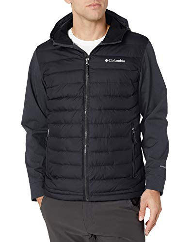 Columbia Men's Powder Lite Hybrid Jacket, Black, Black Heather ,Large