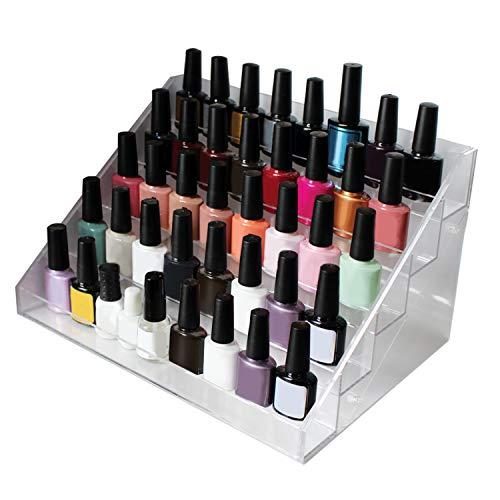 5 livelli Organizzatore per smalto per unghie con viti in plastica - Supporto acrilico (36cmx20cmx19cm) - Supporto smaltato Espositore può contenere fino a 35 standard bottiglie vernice per unghie