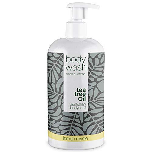 Australian Bodycare Body Wash 500ml | Aceite de árbol de Té y Mirto Limón | Gel Tea Tree Oil para hombres | Suave Jabón para Mujeres con Piel Seca y Manchada, Granos, Picazón, Olor Corporal, Sudor