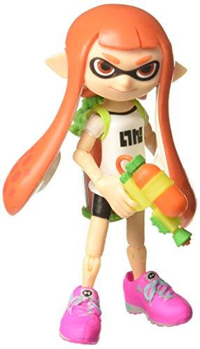 World of Nintendo Inkling Girl with Blaster Action Figure, 4'