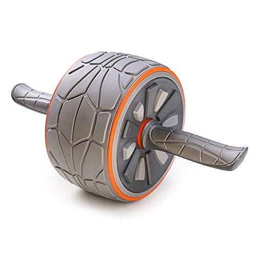 Zhongxingenggeng Bauchrad-Bauchmuskeltrainer Roller TPR PP Edelstahlmaterial | Radbreite 10,5 cm | Dicke Stahlrohrhalterung | Freie Knieschoner