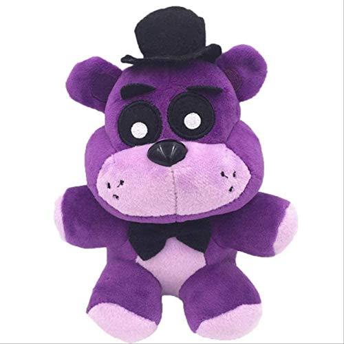 DINEGG Plüschspielzeug 18 cm Fünf Nächte bei Freddy Phantom Foxy Plüsch Puppe Gefüllte Tier Kinder Geschenke 18cm Lila Freddy YMMSTORY
