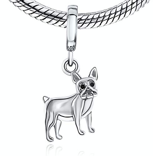 BOLENVI Boston Terrier French Bulldog Bull Dog 925 Sterling Silver Charm Bead For Pandora & Similar Charm Bracelets or Necklaces