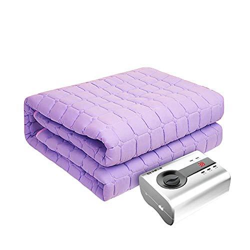 VBARV Elektrisch Beheiztes Bett, Geräuschloses, Strahlungsfreies Wasserbett, Doppelte Wasserumlaufdecke Mit Integriertem Überhitzungsschutz (Lila)