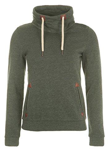 DESIRES Liki Tube Damen Sweatshirt Pullover Sweater Mit Stehkragen Und Fleece-Innenseite, Größe:S, Farbe:Climb Ivy (8785)