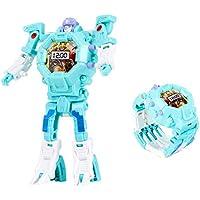 Transform Toys Robot Watch 3 en 1 Projection Kids Reloj Digital Deformation Robot Toys para niños niñas Regalos (Azul)