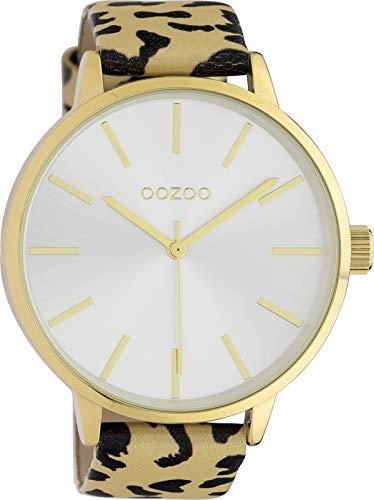 Oozoo Reloj de pulsera para mujer con aspecto de leopardo, correa de...