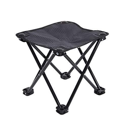 BFQY FH Chaise De Pêche, Petite Chaise De Barbecue Portable Extérieur Mazar Outing Sketch, Chaise De Barbecue Auto-Conduite, 4 Couleurs (Couleur : Noir)