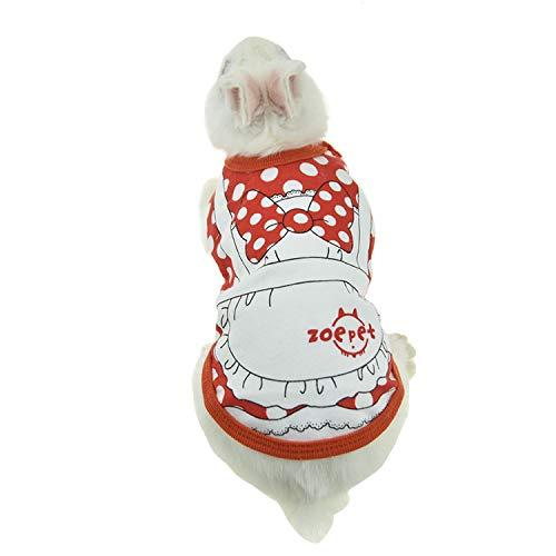 FLAdorepet Kostüm für Kaninchen und Meerschweinchen, für kleine Tiere, Chinchillas, Frettchen, Outfits für kleine Hunde und Katzen, XXXS(Bust 7.8inch), rot