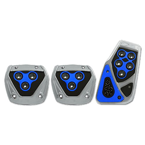 Pilot Automotive Pilot PM-2313B2 Voltage Pedal Pad Set for Manual Transmissions - Black/Blue, 1 Pack