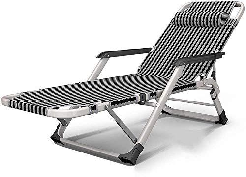 Silla plegable sillas de oficina sillas reclinables balcón casa silla portátil de tela de tejido de ligamento sillas plegables, black and white grid
