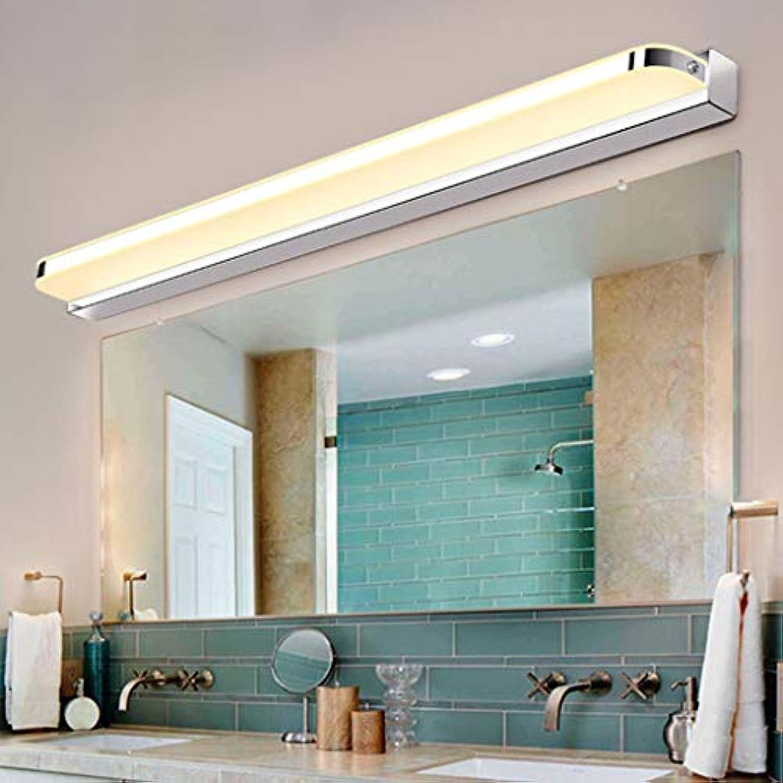 NHX Led Spiegel Wandleuchte wasserdichte Anti-beschlag Moderne Einfache Acryl Aluminium Badezimmer Wohnzimmer Wandlampe Lampen Lichter Inbegriffen Glühbirne, Warm Light-52CM