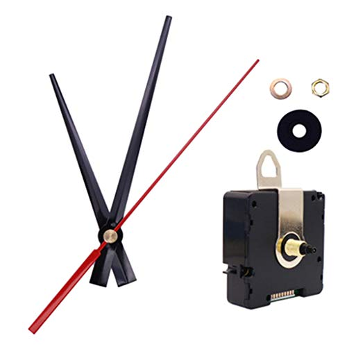 A FEI UK MSF Time Atomic Radio Controlled Silent Wall Clock Quartz Movement Mechanism DIY Kit Replacement Set Accessories - for 5mm Thickness Clock Panel,White