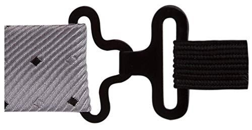 Gravata borboleta cinza com quadrados cinzas e pretos