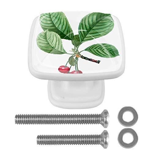4 pomos para aparador – Manija decorativa colorida del cajón para decoración del hogar, perillas de cerezo