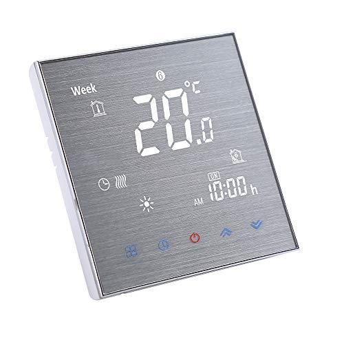 Funien Termostato para Caldera de Agua/Gas, BTH-2000L-GA Termostato de calefacción de Suelo de Agua Controlador de Temperatura Digital Pantalla LCD Grande Control de botón táctil 5A AC 95-240V