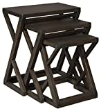 Signature Design by Ashley Cairnburg Modern Nesting Accent Table Set of 3, Brown