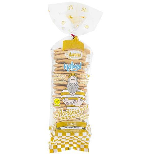 Marineras Daveiga - Crackers de trigo (Semillas de lino) 24 unidades