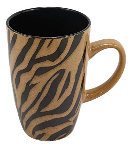 Ebros Ceramic Animal Totem Spirit Zebra Horse Stripes Print Drinking Beverage Mug 16oz Drink Coffee Cup Safari Double Walled Earthenware Kitchen And Dining Accessory Decor For Zebras Wildlife Animals