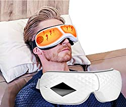 Eye Massager,Eye Temple Massager with Heat Infrared Air Pressure Music Vibration Compression Therapy 3D Electric Eye Massager Wireless Rechargeable for Dry Eyes Relax Stress Fatigue
