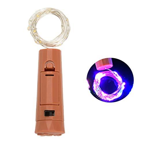 TEBI 5 unids/caja 20 LEDs lápiz labial corcho botella de vino lámpara LED funciona con pilas mini luces para Christamas, Halloween, fiesta bar, decoración de boda luces