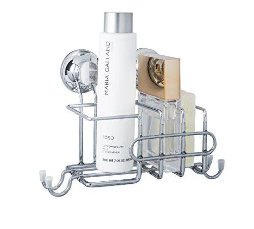 Everloc Vakuumsystem-Nie Wieder Bohren EL-10242 Spülmittel, Schwamm-und Putzablage, Chrom, Maße: 22x12x15cm, Metall, 22 x 12 x 15 cm