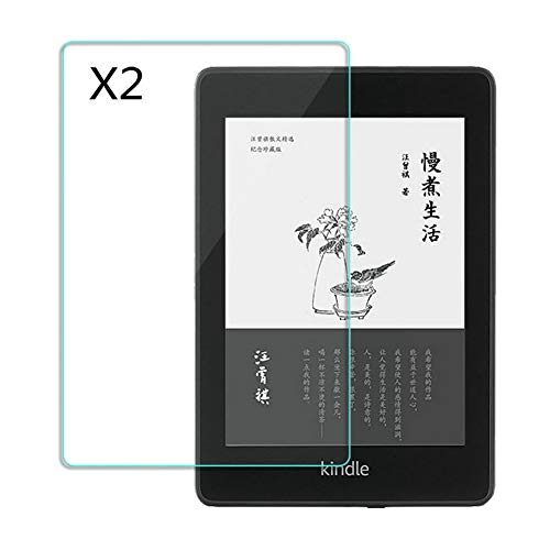 Kepuch 2 Pack Tempered Glass Screen Protector Transparent for Kindle Paperwhite 2018