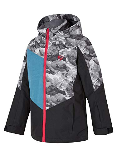 Ziener Jungen Avan jun (Jacket ski) Kinder Skijacke, Winterjacke/Wasserdicht, Winddicht, Warm, Black, 140