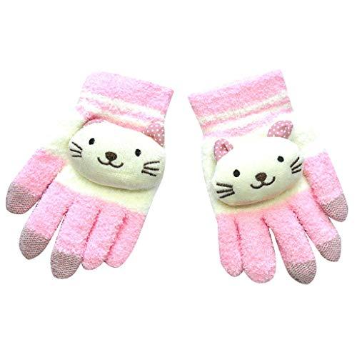 URSING Handschuhe Baby Mädchen Jungen, Dicke warme Fausthandschuhe Winterhandschuhe Fäustlinge Süß Cartoon Kinderhandschuhe für Outdoor Spielen Laufen Skifahren