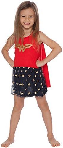DC Comics Girls Big Wonder Woman Tank Nightgown with Cape Multi 7 8 product image