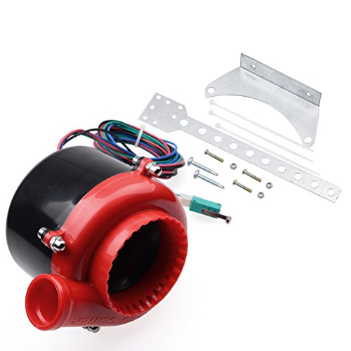 Red Car Electronic Fake Turbo Dump Blow Off Valve BOV Analog Sound Simulator with Pedal Switch Compatible with Buick Chevrolet Chevy Dodge GMC Ford