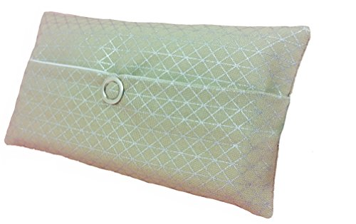 Zakdoeken tas zilver geometrie driehoekig design adventskalender vulling kabgeschenk cadeautje give away medewerkers Kerstmis