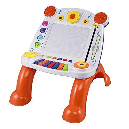 Lihgfw Musik Magnetic Farbe Schreibens-Brett Junge Kinder Graffiti Zeichnung Drawing Board-Baby 1-3 Jahre alt Early Education Toy Dreidimensionales Bracket Magnetic Farbe Musik-Tastatur