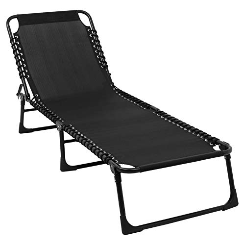 DJLOOKK Sillón Plegable para Patio, Tumbona reclinable Ajustable de diseño ergonómico, para Patio, jardín, Playa, Piscina, Tienda, Camping