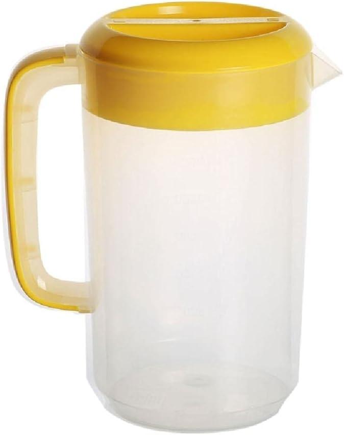 Material plástico Hervidores de agua fría Botella de agua fría con tapa Botellas de agua fría Botellas de agua doméstica con asa Jarras de jugo de 5 colores con tapa para refrigerador Plástico