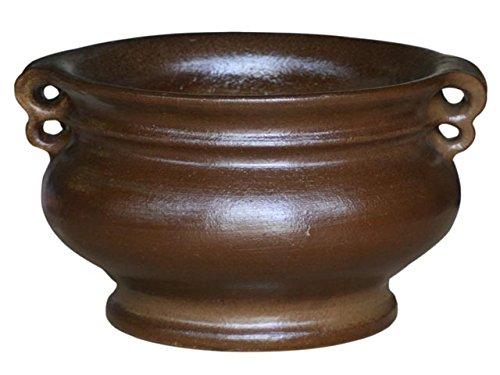 K & K plantenbak Capella 60x37 cm donkerbruin mat van vorstbestendig aardewerk keramiek (5 jaar garantie)
