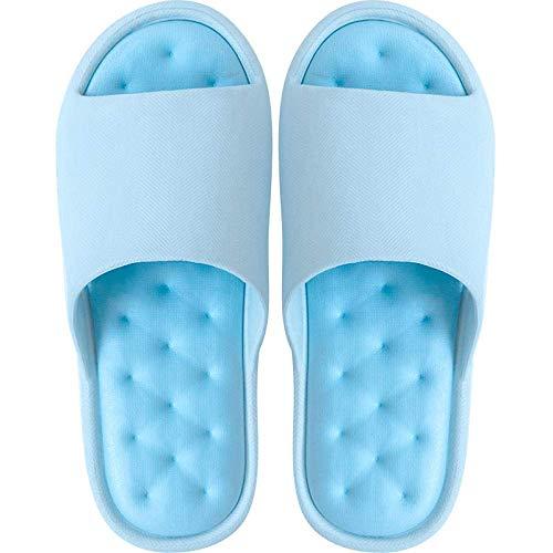 Sandalias de baño Eva para mujer, con plataforma antideslizante, 35, color azul, para playa, piscina, fangkai77