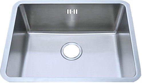 Complement® Küchenspüle Eckige Unterbauspülbecken aus gebürstetem Edelstahl. (A02 bs)