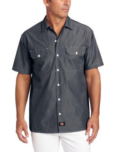 Dickies Men's Short Sleeve Chambray Shirt