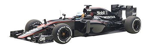 AUTOart- 18121–McLaren Honda MP4–30–GP Barcelona 2015–Negro–Escala 1/18