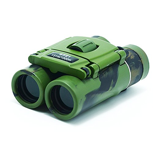 Small Lightweight Compact Binoculars 8x21 Binoculars for Kids & Adults Mini Folding Binoculars for Bird Watching Traveling Sightseeing Concert Theater Opera (Green)