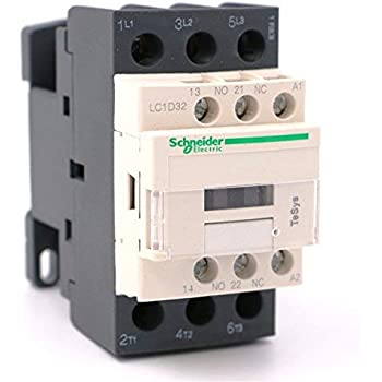 Power Contactor 32Amp 1NO+1NC LC1D32G7 120VAC 50//60Hz Schneider Telemecanique