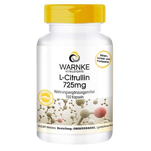 Citrulline Capsules - 725mg - Vegan - 150 Capsules - Amino Acid
