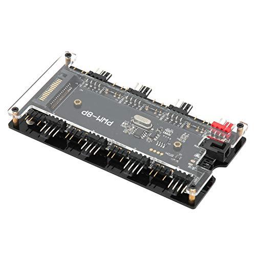 ABS + PCB Material Case Fan Controller Hub, Case Fan Hub, para computadora, Ventilador de refrigeración, computadora de Bricolaje