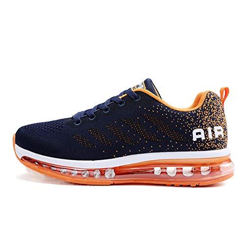 Axcone Zapatillas Hombres Mujer Deporte Running Zapatos para Correr Gimnasio Sneakers Deportivas Padel Transpirables Casual 833 OG 44EU