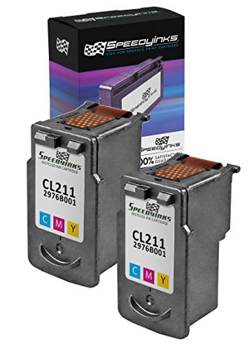 Speedy Inks Remanufactured Ink Cartridge Replacement for Canon CL-211 (Color, 2-Pack)