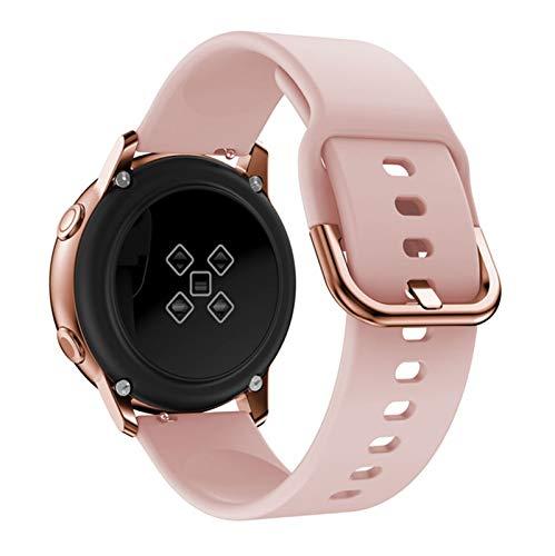 YONGLI 10 Correas de Colores para Huawei Watch GT2 42mm GT 2 46mm Smart Watch Strap Silicone WatchBand Banda de muñeca Pulsera (Color : Pink, Size : GT2 42mm)
