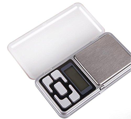 Hycy 200G X 0,01G LCD Display Mini Digital Scale Schmuck Tasche Balance Gewicht mit Blauer Hintergrundbeleuchtung Präzise Waage Waage