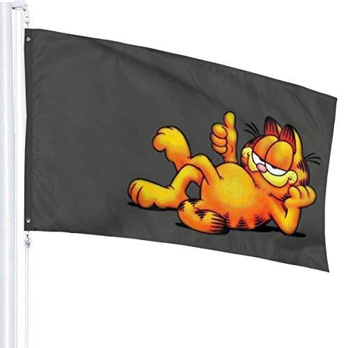 JDQP YEECUSTOM Die Garfield Show Flagge 3x5 Fuß Flaggen mit Ösen Outdoor Druckflaggen Qualität 3x5 Fuß Dekoration Outdoor Stars and Stripes Banner
